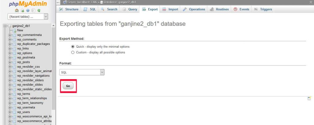 بکاپ گرفتن از پایگاه داده وردپرس
